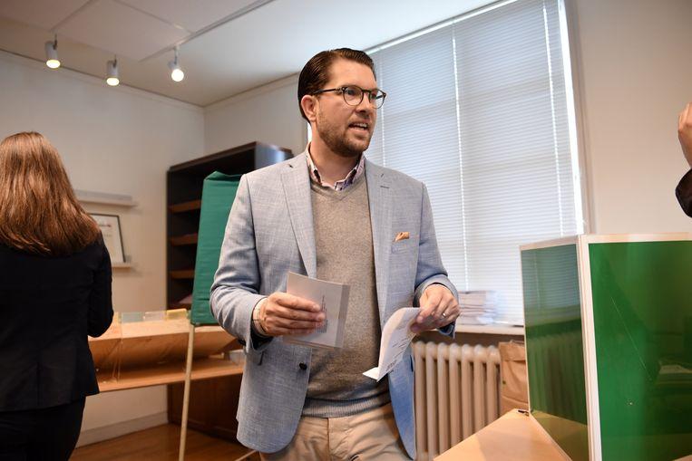 Zweden Democraten van deze Jimmie Åkesson boekte een winst van meer dan vier procent.