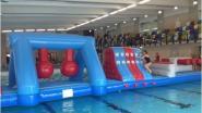 Aquaspeelbaan palmt Nijlens zwembad in
