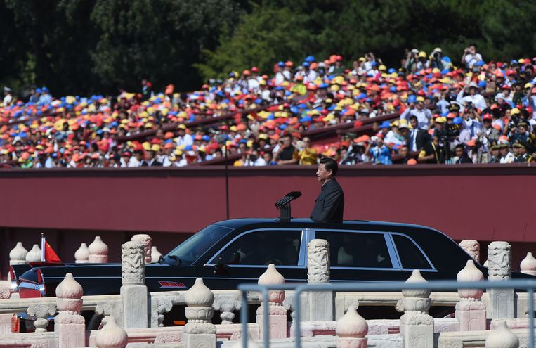 De Chinese president Xi Jinping Beeld null
