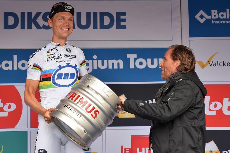 Tony Martin zette in de tijdrit de puntjes op de i: hij pakte in Diksmuide de rit en rode trui Beeld BELGA