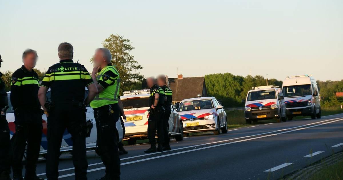 Ongeluk op N35 tussen Wierden en Nijverdal gevolg van politieachtervolging, man uit Vroomshoop gearresteerd.