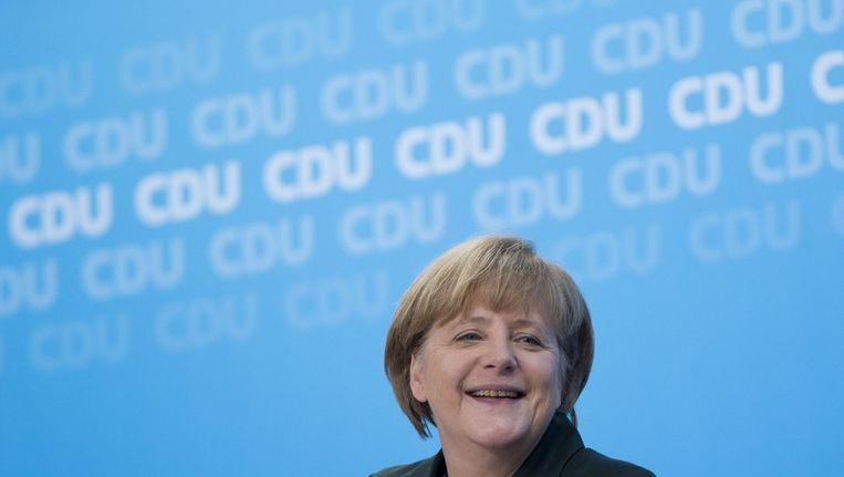 Angela Merkel wordt weer bondskanselier. Beeld afp