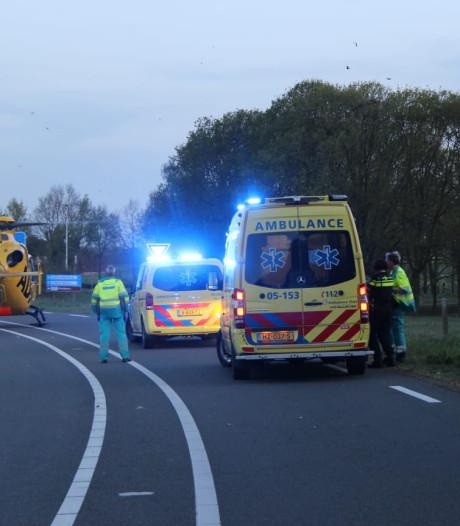 Motorrijder gewond bij eenzijdig ongeval in Holten