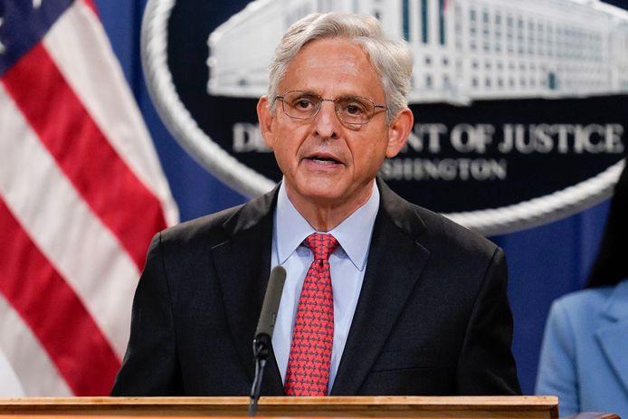 Amerikaans minister van Justitie Merrick Garland