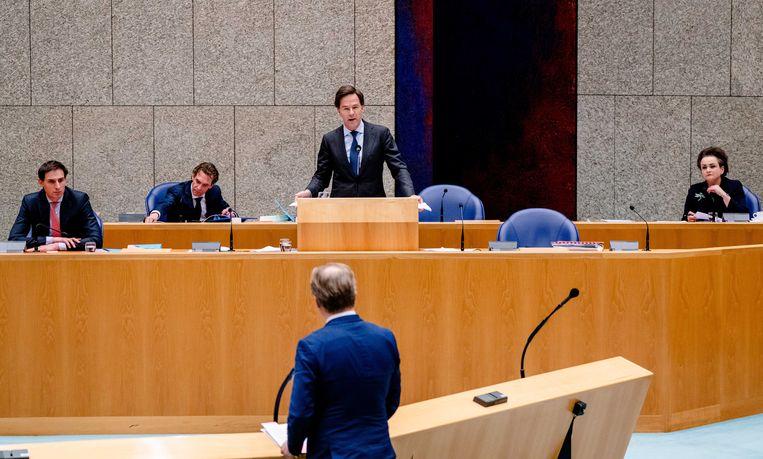 Debat over het aftreden van het kabinet naar aanleiding van de toeslagenaffaire. Beeld ANP