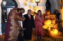 Halloween-feestje met president Trump en first lady Melania.
