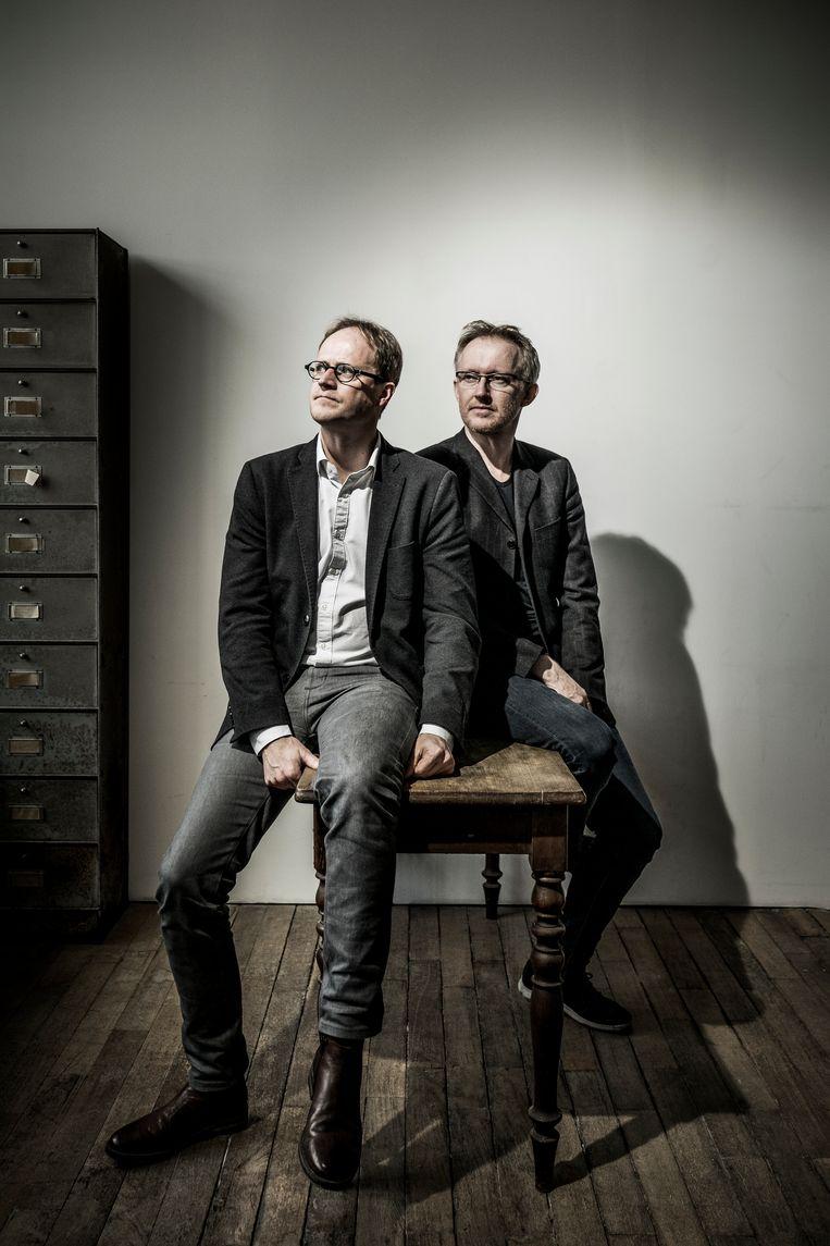 Patrick Loobuyck (l.) en David Van Reybrouck. Beeld Diego Franssens