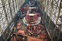 Neptune Marine laat het casco van Canopée in Polen bouwen. In Hardinxveld-Giessendam wordt het schip verder afgewerkt.