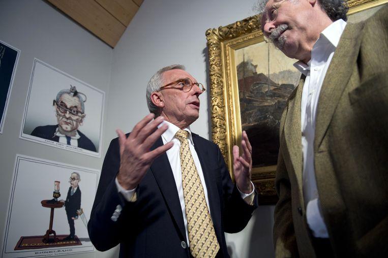 Vanavond in Medialogica een portret van VVD-politicus Jos van Rey (links op de foto). Beeld null