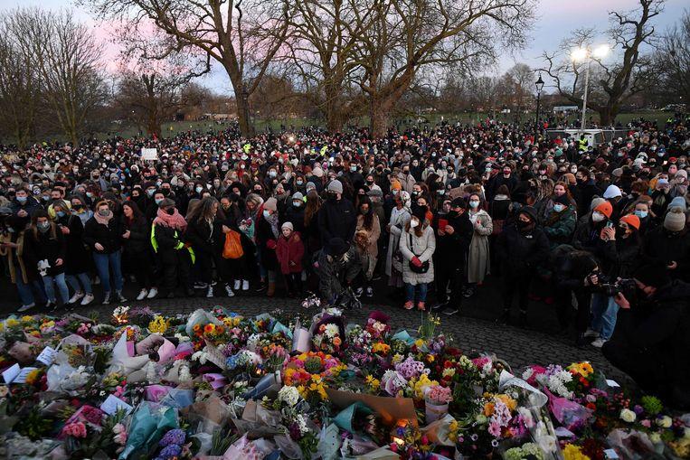 Bloemen bij Clapham Common. Beeld AFP