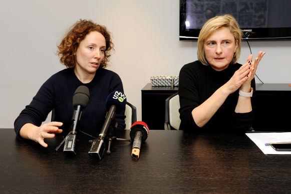 Gentse schepen van Onderwijs Elke Decruynaere (Groen) en Vlaams minister van Onderwijs Hilde Crevits (CD&V)