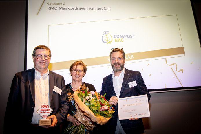 The Compost Bag Company is provinciaal finalist KMO maakbedrijf van het jaar