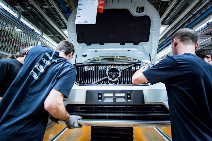 Des employés de l'usine Volvo à Gand en action,  le 21 septembre 2017.
