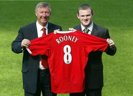 Wayne Rooney, de nieuwe spits van Manchester United, in 2004.