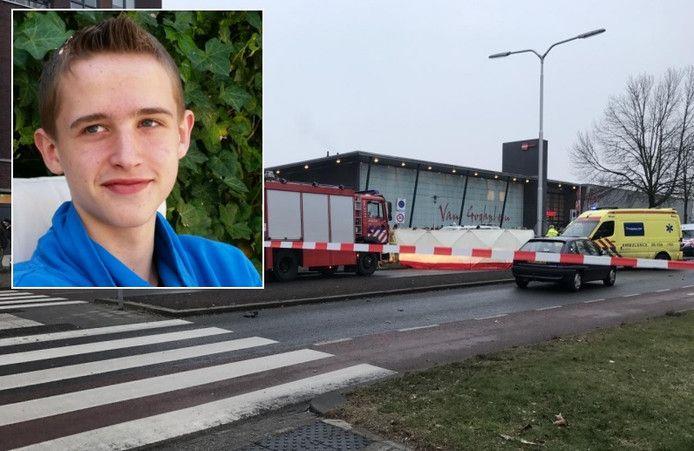 De plek van het fatale ongeval in Almelo. Inzet: Chiel Meesters.