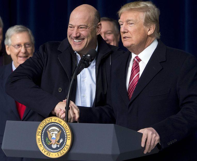 Gary Cohn met president Trump. Beeld AFP