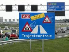 Meeste boetes bij nieuwe trajectcontroles op A2 en A4
