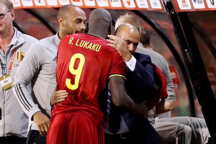 Thierry Henry, Romelu Lukaku et Roberto Martinez