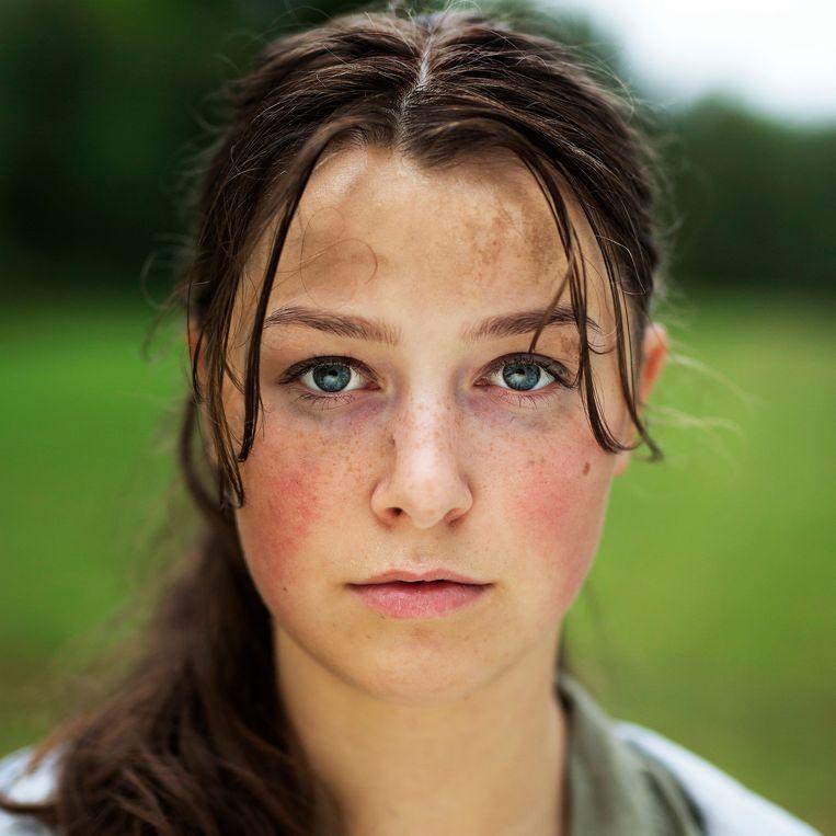 Andrea Berntzen in 'Utoya 22. juli'.  Beeld EPA