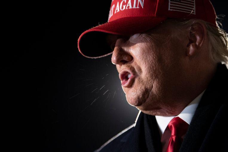 Trump tijdens een campagnebijeenkomst in Milwaukee, Wisconsin, eerder deze maand. Beeld AFP