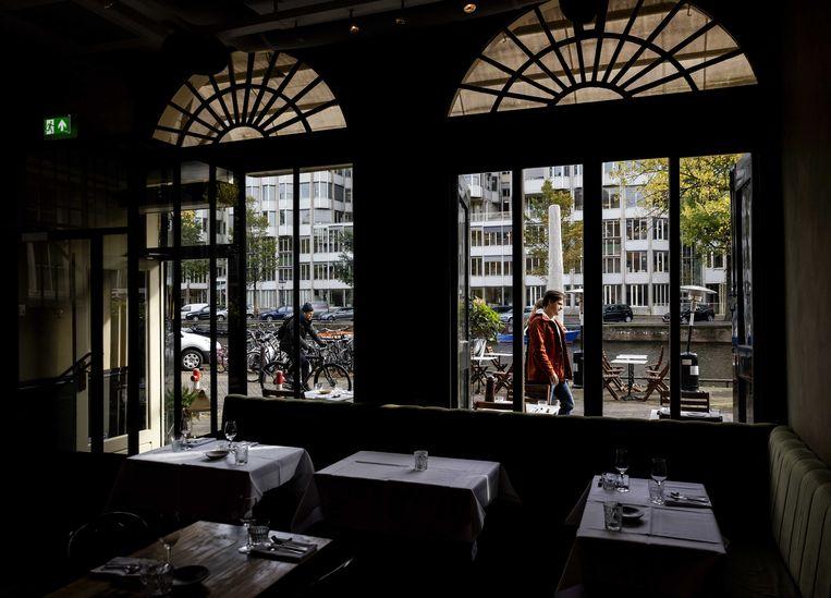 Een leeg restaurant Breda. Beeld ANP