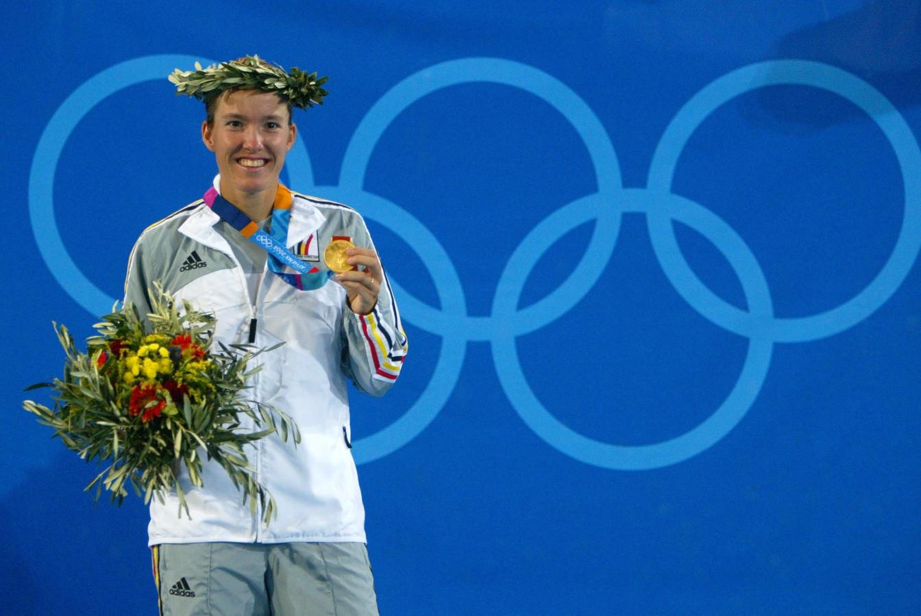 Justine Henin, championne olympiqueà Athènes en 2004: l'une des 40 médailles d'or de l'histoire du sport belge.