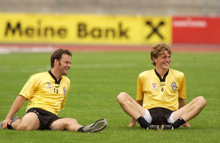 Denis Dasoul (rechts) met Gunther Schepens tijdens zijn periode bij het Oostenrijkse Bregenz.