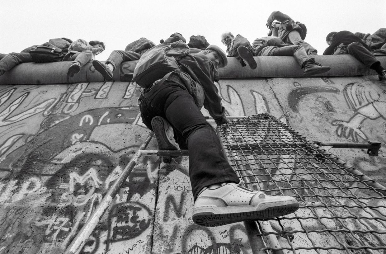 De Muur bij de Potsdamer Platz in november 1989.