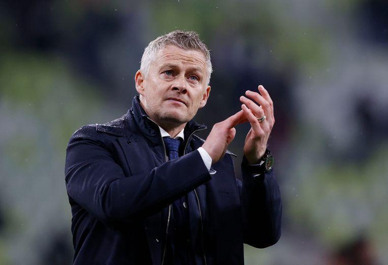 Manchester Unitedtrainer Ole Gunnar Solskjaer. Beeld Pool via REUTERS