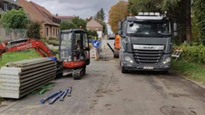 Herstellingswerken verzakking rijweg Fonteinstraat