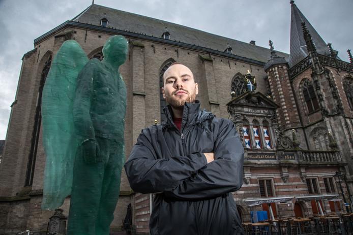 Joshua Lynch voelt zich al helemaal thuis in de Zwolse binnenstad.