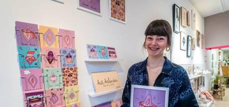 Fien start haar KUT-bedrijf: 'Mijn illustraties doorbreken taboe, ze noemen het niet voor niets schaamstreek'