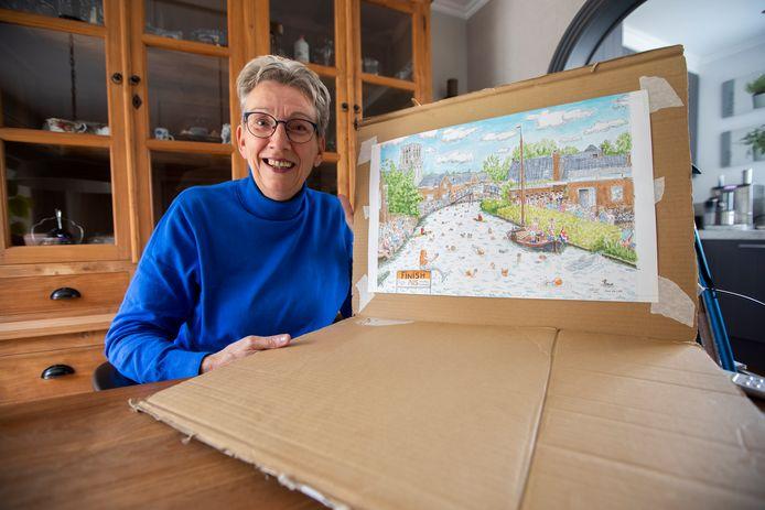 Jeanette Thoen heeft een puzzel gemaakt (laten maken) voor het goede doel, ALS. Ze heeft zelf ook deze spierziekte.