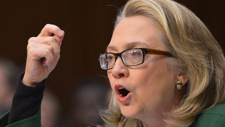 Hillary Clinton legt verantwoording af in de Amerikaanse Senaat Beeld ANP