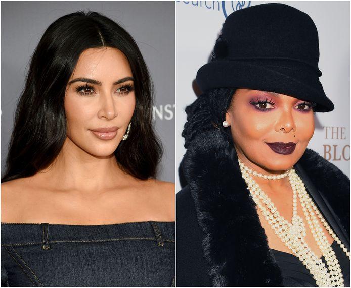 Kim Kardashian en Janet Jackson