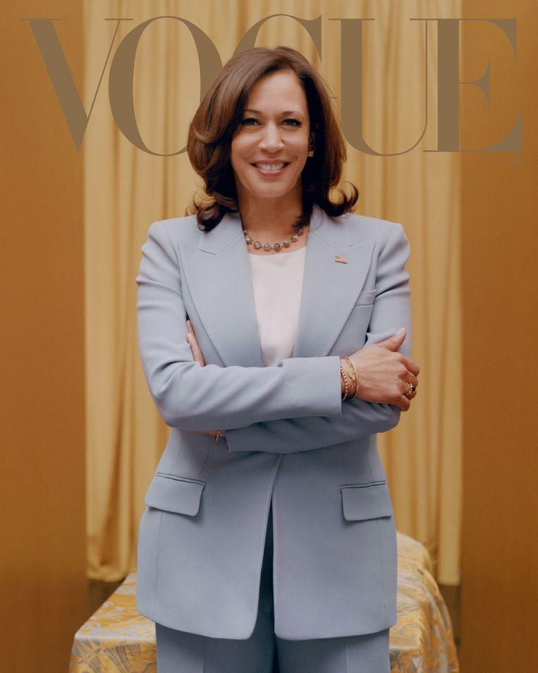 De cover van Kamala Harris zoals die ook nu online te zien is op de site van 'Vogue'.  Beeld Vogue