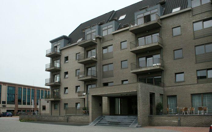 Het gebouw in de Heilig Hartstraat in Turnhout waar de vluchtelingen onderdak krijgen.