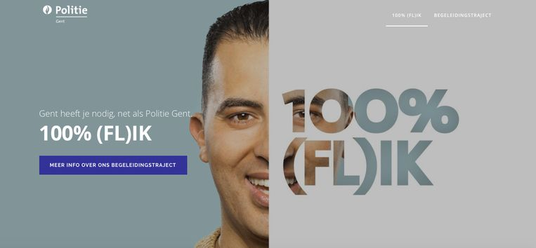 Het campagnebeeld van 100 % (Fl)ik