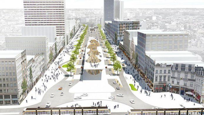 Voici à quoi pourraient bientôt ressembler l'Avenue de la Toison d'Or et le boulevard de Waterloo, dans le haut de Bruxelles.