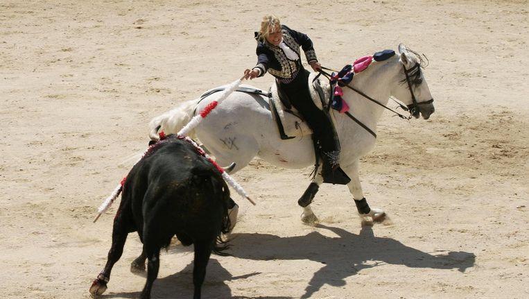 Marie Sara actief als stierenvechter in 2005 Beeld null