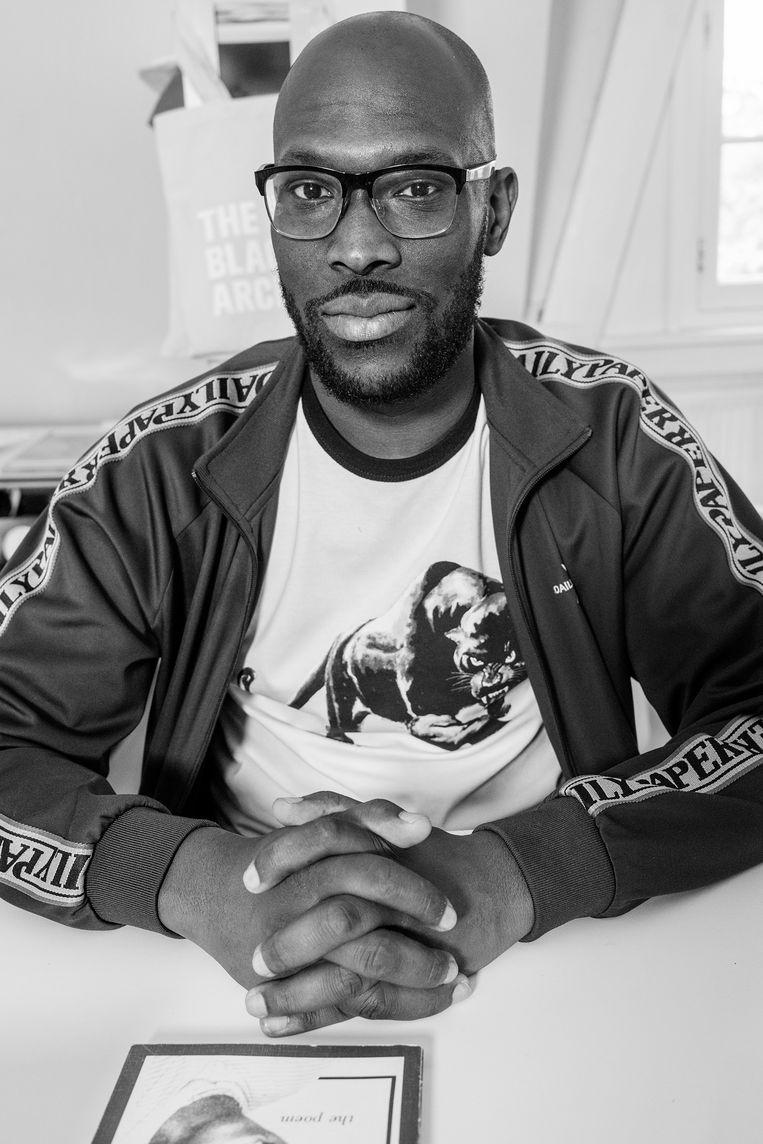 Mitchell Esajas, onderzoeker en medeoprichter van New Urban Collective, The Black Archives en Ongekende Talenten. Beeld Jakob Van Vliet