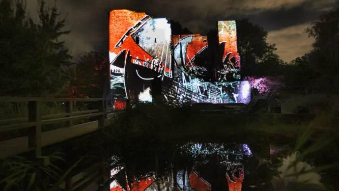 Spectaculaire lichtshow brengt ruïne Heenvliet weer tot leven