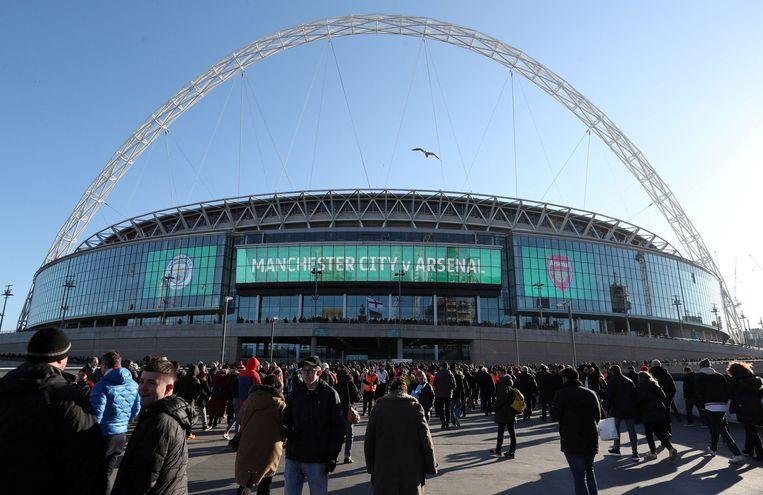 Het iconische Wembley wordt verkocht, waarschijnlijk aan een Amerikaanse NFL-ondernemer Beeld Photo News