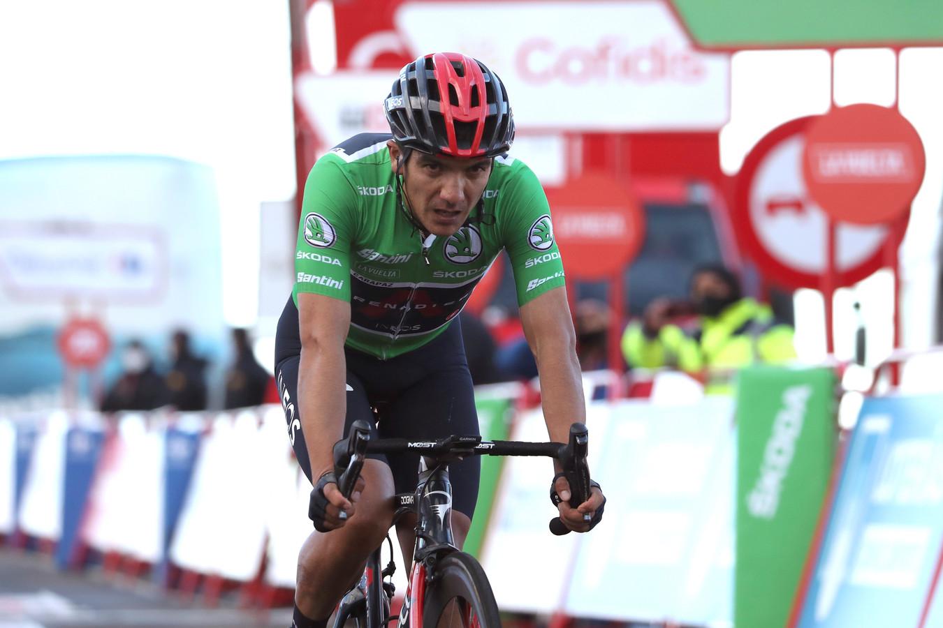 Richard Carapaz na etappe 17 van de Vuelta.