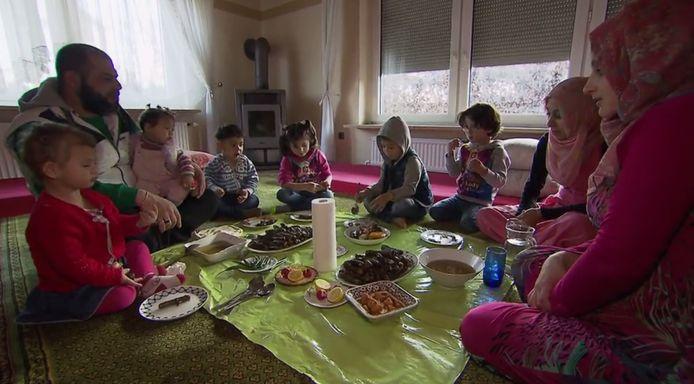 Ahmad met zijn gezin