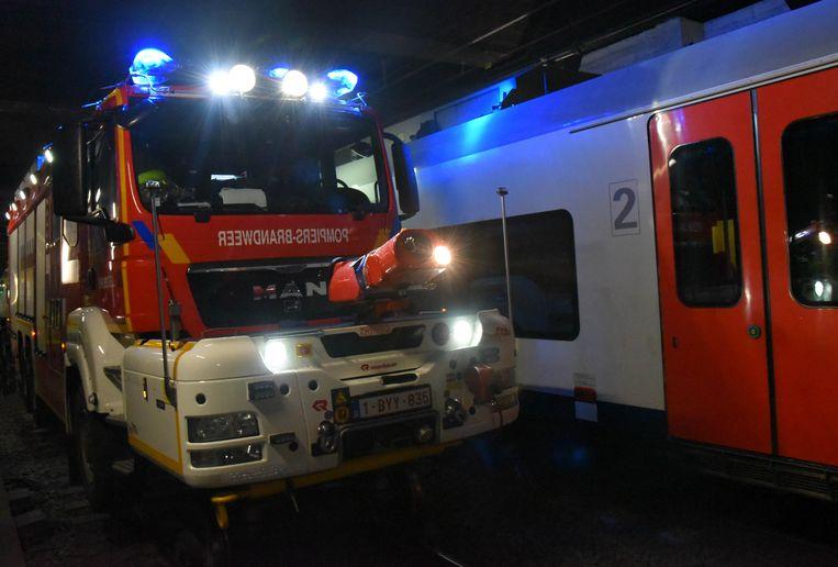 Ook de Rail Route, een brandweerwagen die op de sporen kan rijden, werd ingezet.