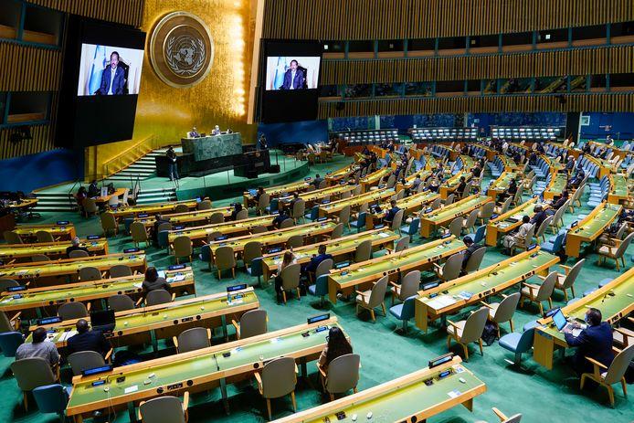 De vergadering van de VN in New York.