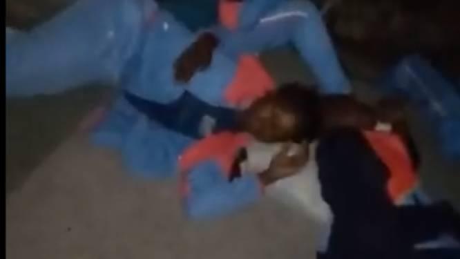 Schrijnende beelden tonen hoe Congolese voetbalsters daags voor WK-kwalificatiematch op straat slapen