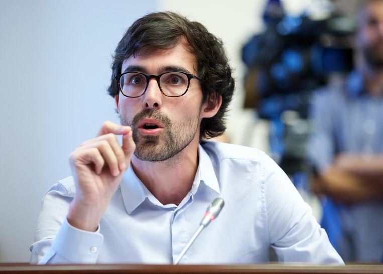 Kristof Calvo (Groen) noemt Marghem nalatig. Beeld BELGA