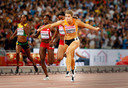 Schippers' grote doorbraak: goud op de 200 meter op het WK van 2015.